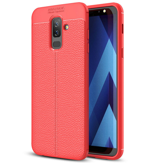 buy online cdccf e2335 US $3.5 |For Samsung Galaxy J8 2018 Soft Slim TPU Case Anti Shock Litchi  Back Cover For Samsung Galaxy J8 2018 T007-in Fitted Cases from Cellphones  & ...