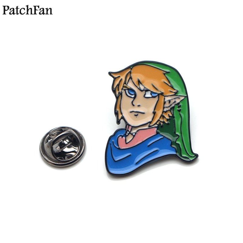 20pcs/lot Patchfan Legend Of Zelda Cartoon Funny Pins Backpack Clothes Brooches For Men Women Hat Decoration Badges Medals A1524 Badges