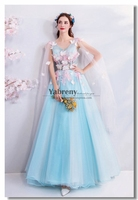 Sweet Blue Butterfly Quinceanera Dresses Prom dressy