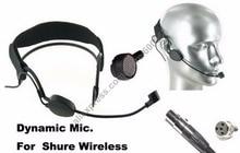 MICWL Top Quality Cardioid Dynamic Headset Microphone For Shure Wireless Head Headworn Wearing Mic Mini XLR TA4F 4Pin ME3-DY-ULX