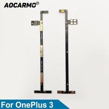 Aocarmo-Interruptor de teclas laterales de encendido/apagado, botón de volumen, Cable flexible para OnePlus 3, A3000, 1 + 3, reemplazo de reparación