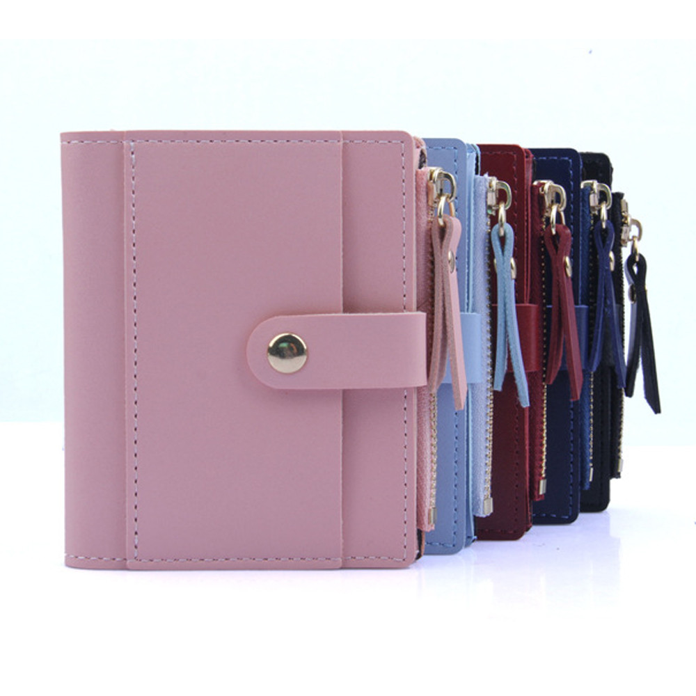 2019 Fashion Women Wallet Small Cute Wallet Women Short Leather Women Wallets Zipper Purses  Female Purse Clutch C508