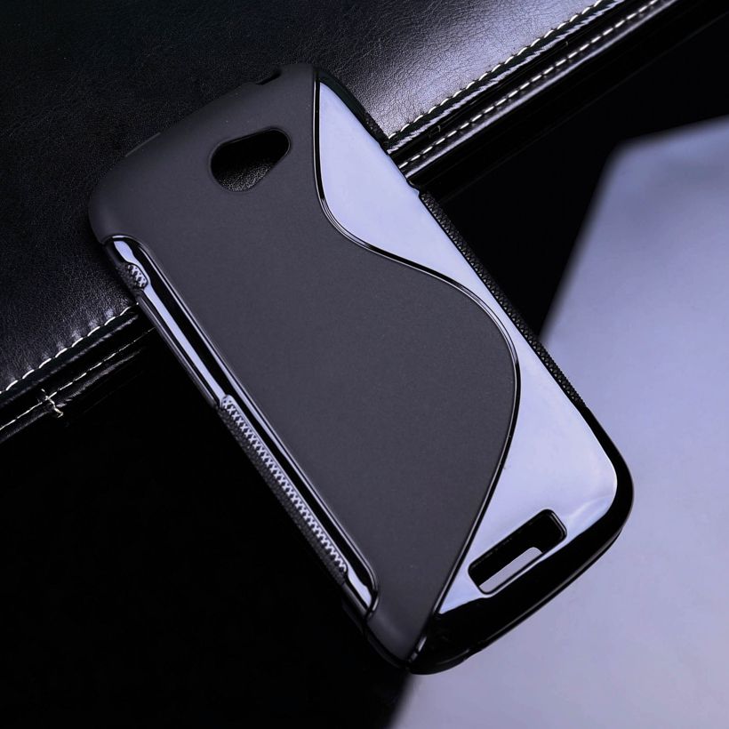 1 Pc/lot S Line TPU Gen Phone Case For HTC Bolt 10 Evo Cover Black - intl