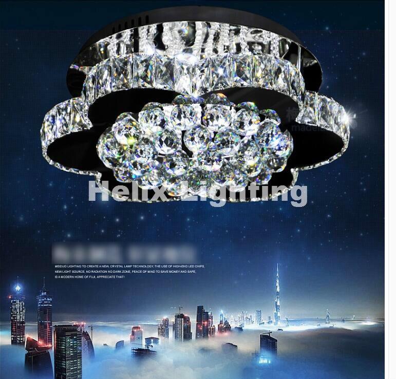 Бесплатная доставка потолочные Лампы для мотоциклов Регулируемый Цвета LED кристалл потолочный светильник современный Дизайн со стразами О