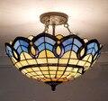Потолочный светильник Tiffany в европейском и средиземноморском стиле  стеклянный E27 110-240 В  светодиодные потолочные светильники