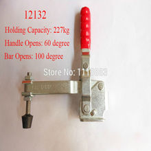 5PCS Vertical Handle Toggle Clamp 12132 Long U Bar Flanged Base Holding Capacity 227KG 500LBS