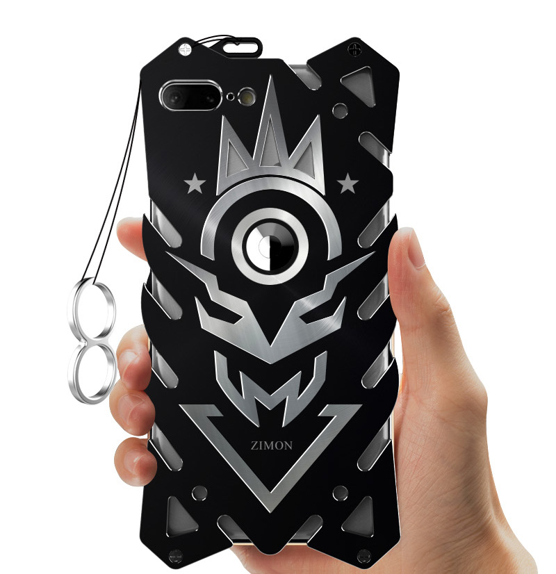 reputable site 34fa4 cbc03 US $14.58  Zimon Armor II Aviation Metal Phone Case For Iphone 6 6s 7 8  plus Powerful Outdoor Case For Iphone 7 8 CNC Anodized Aluminum -in Fitted  ...