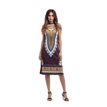 9d4c8363765 2018 Summer Boho Gypsy Tribal Hoodies Tunic Dress Women Sundress  Traditional African Print Dashiki Bodycon Party