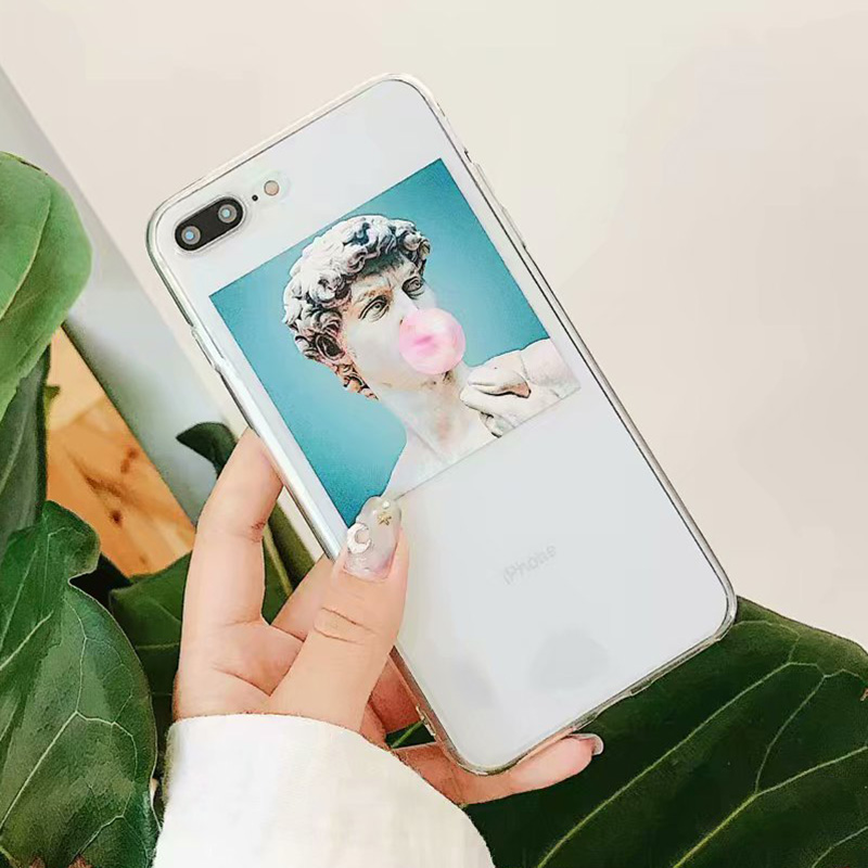 KIPX1092_3_JONSNOW Clear Soft Case For iPhone 6S 7 8 Plus X XR XS Max Artistic Picture Design Ultra-thin Transparent Silicone Back Cover Capa