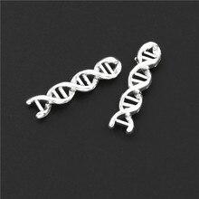 20 шт античные серебряные химические молекулы Подвески молекула допамина, Подвески Сделай Сам браслеты с орнаментами ювелирные изделия A3102/A3233