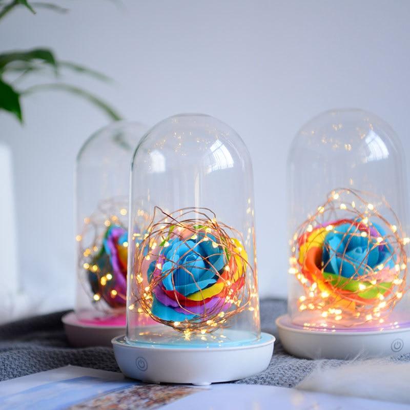 4pieces/Lot Nightlight Creative led Streamer Novelty Bedroom Bedside lamp USB Charging New Birthday Gift Wishing Streamer bottle