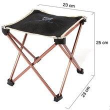 Outdoor Foldable Folding Fishing Picnic BBQ Garden Chair Tool Square  Camping Stool 7075 Aluminium Alloy Free
