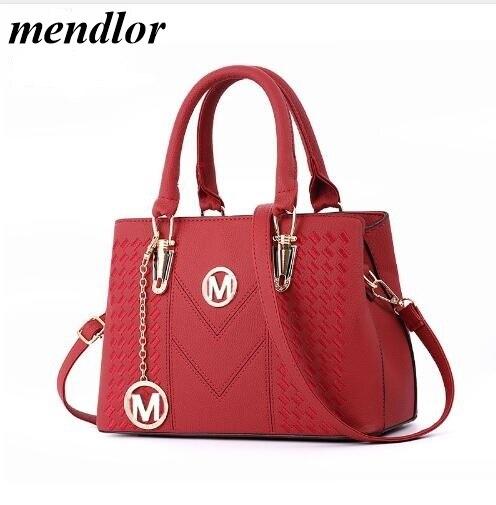 Fashionable New Style Women's Bags 2019, PU Leather Messenger Bag, One-Shoulder Diagonal Embroidery Handbag