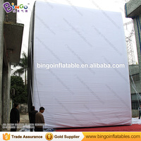 Free shipping 8X1.5X10m giant inflatable advertising board for promotion durable inflatable wall model for film project toys