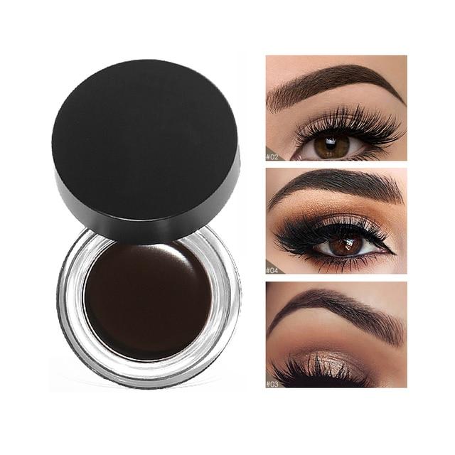 Nueva marca de 5 colores de cejas tinte resistente al agua de maquillaje pomada Gel de larga duración 3D marrón Natural cejas ojo potenciador de crema con cepillo