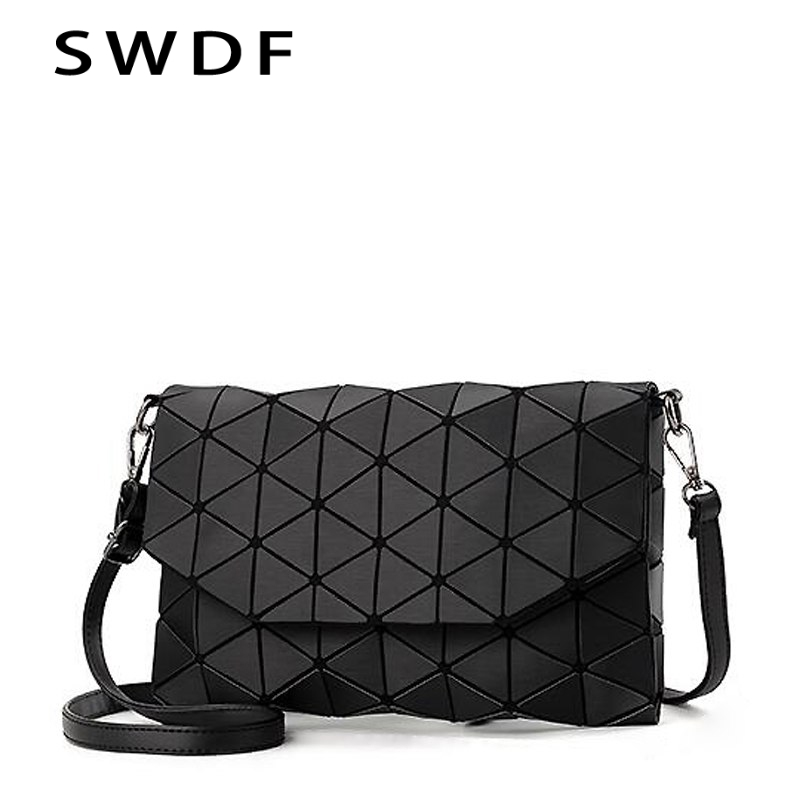 2018 new small solid plaid geometric lingge envelope handbag women clutch ladies purse crossbody messenger shoulder bags S1187