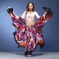 720 Degree Girls Belly Dance Skirt Tribal Bohemia Gypsy 2500cm Long Skirt Flamenco Skirt Belly Dance Gypsy Tribal Skirt D 0336