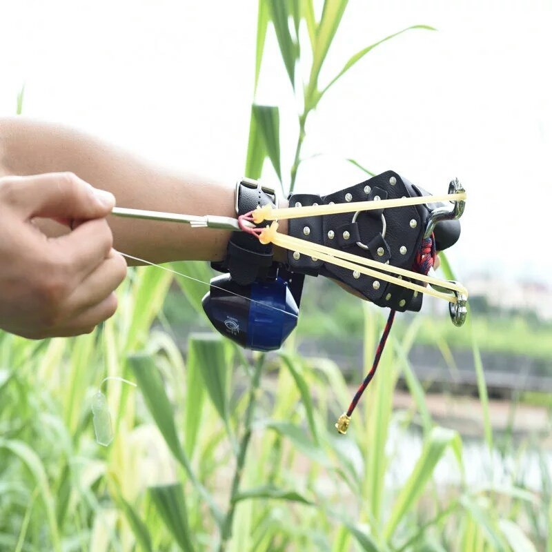 2018 Fishing Slingshot Shooting Catapult + Fishing Fish Darts Crossbow Bolt High Velocity For Fishing And Hunting New