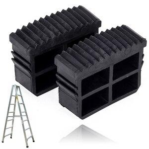 Shellhard 2 шт. черная резиновая Замена ступней, нескользящая лестница, ножка для мебели