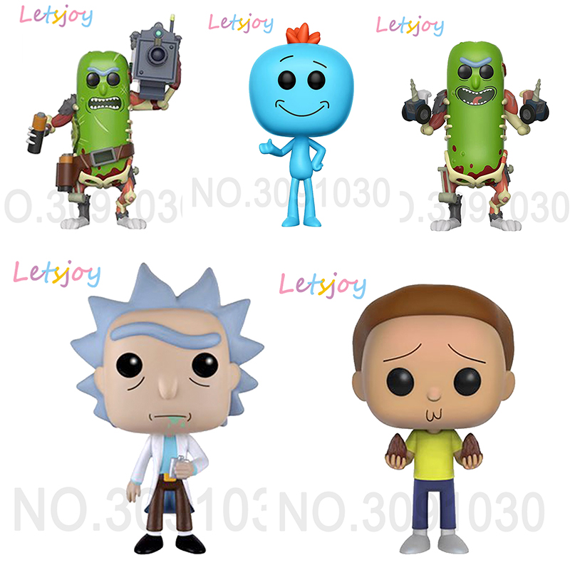 Letsjoy Pop Horse Vinyl Collection Rick And Morty Rick Morty Rick Q Mr. Meeseeks ACTION FIGURE Anime Model Home Decoration