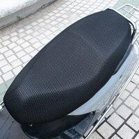 L 3d malha capa de assento da motocicleta respirável à prova de sol moto scooter assento cobre almofada