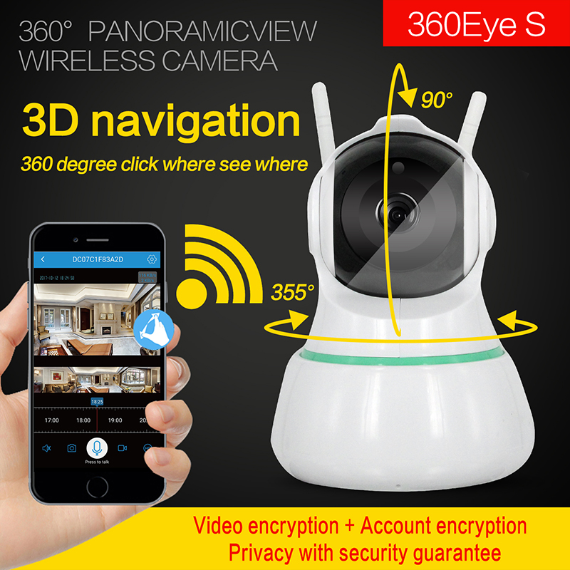 Home Security 3D IP Camera Wireless Smart WiFi Camera WI-FI Audio Record Surveillance Baby Monitor HD Mini CCTV Camera
