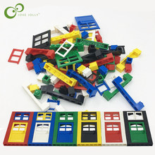 102pcs Door Window Brick DIY House Building Blocks Bricks Toys City Architect For Child Educational Compatible with LEGOing GYH(China)