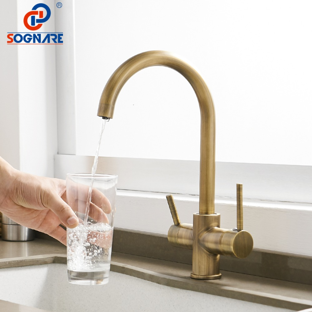Kitchen Sink Faucet for Kitchen Mixer Drinking Water Faucet Water Filter Sink Mixer Tap 360 Degree