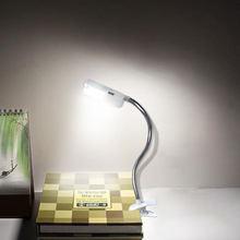 Lampe LED réglable pour lecture de livres, tube métallique Flexible torsadé à 360 degrés, Mini lampe de bureau lumineuse pour lecture