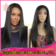 Top Selling silky straight full lace wig straight front full lace wigs for black woman natural color 130 density human hair wigs