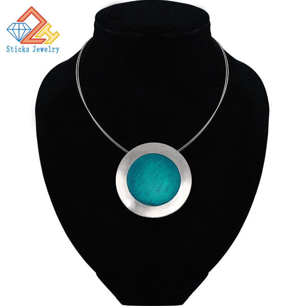 Top Quality Fashion Necklaces Necklace Set Blue Coffee Gray  Enamel Pendants