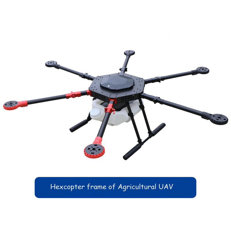 rc airplane Agricultural uav drone hexcopter KIT frame parts foldable carbon fiber frame 10KG with Spray pump