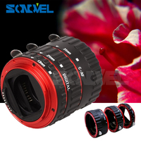 Red Metal TTL Auto Focus AF Macro Extension Tube Ring for Canon EOS EF EF-S 60D 7D 5D II 550D 500D 450D 400D 350D 300D 100D 200D