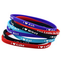 Wholesale Shipping 120PCS/Lot Skinny I Love 5SOS Silicone Wristband Bracelet With Name Mikey, Ash, Luke, Cal