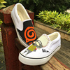 Wen Anime Hand Painted Shoes Custom Design Naruto Slip On Casual Shoes Men Women S Canvas