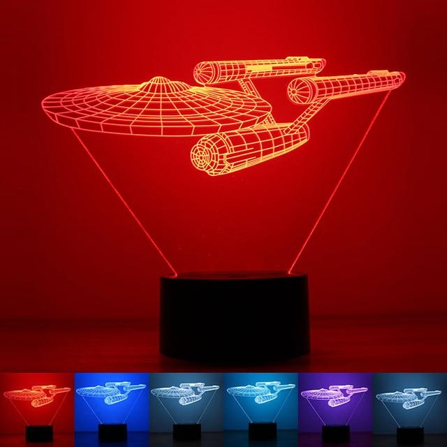 2016 Hot 3D LED Light Toy Novelty Star Trek Bulbing USB Touch Switch Star Wars Luminaria de Mesa Home Decor Gift