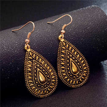 Fashion Metal Dangle Earrings Earrings Jewelry Women Jewelry Metal Color: GA723