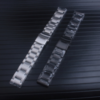 Solid stainless steel bracelet black color watches band strap watchband 22 24 26mm