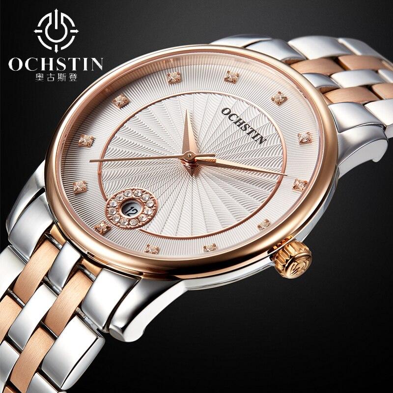 2016 Watches Women Ladies Luxury Ochstin Auto Date Quartz Watch Bracelet Wrist For Woman Waterproof Stainless