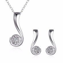 Buy silver question mark necklace and get free shipping on inalis 2018 womens 925 solid silver plated jewelry set aloadofball Image collections