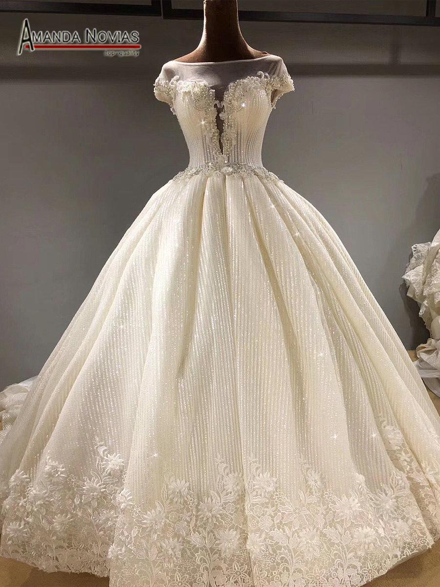 Luxury Shinny Arabic Wedding Dress 2018-in Wedding Dresses from ...
