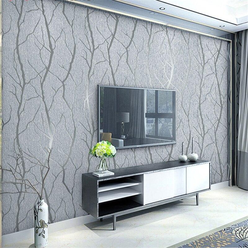 Beibehang Современный Простой гостиная спальня обои 3D стерео филиал полосатый олень кожа задний план 3d