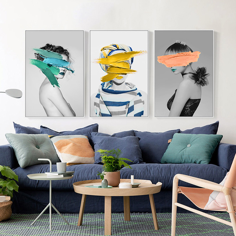 Современная Скандинавская черно белая Картина на холсте, художественный принт, настенный постер, абстрактные настенные картины для девочек, настенная живопись для спальни, гостиной|Рисование и каллиграфия| | - AliExpress
