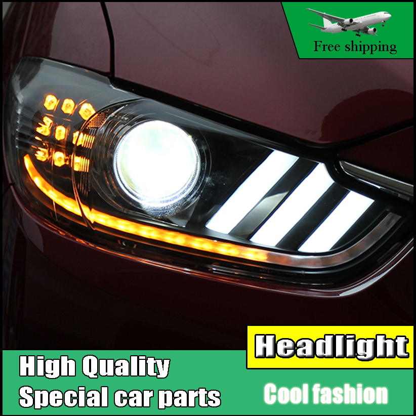 Car Styling Head Lamp For Mazda 6 Atenza Headlights 2014 - 2016 LED Headlight DRL Lens Double Beam Bi-Xenon HID Car Accessories new lepin 05063 4016pcs star series wars death star building block bricks toys kits compatible legoed with 75159