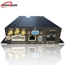 4CH 3G automobile video recorder cctv mdvr GPS positioning monitoring host twin card cell dvr