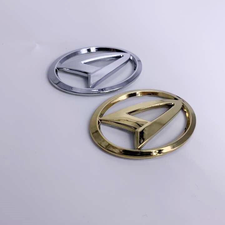 6.4CM*4.4CM Daihatsu gold Chrome car Steering Wheel Front rear Badge Emblem Sticker For Sirion PICO MATERIA COPEN Esse Altis