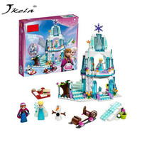 Jkela 316pcs Color Box Dream Princess Elsa Ice Castle Princess Anna Set Model Building Blocks