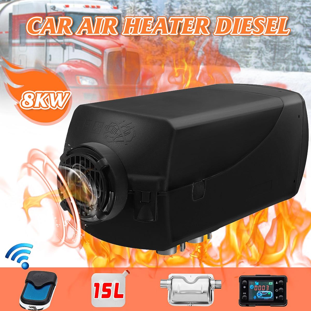 Voiture Réchauffeur D'air 12 v 8KW LCD D diesel Silencieux 15L Réservoir Planaire Camions Bateau Camping-Car Parking Avec Télécommande moniteur LCD pour RV