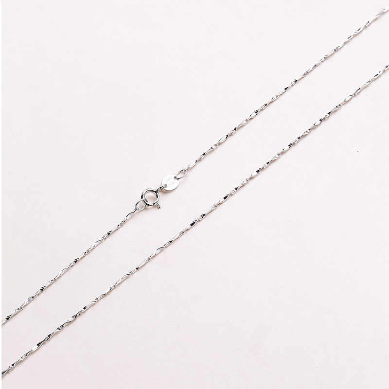 1.0mm S925 srebrny chiny Sycee kształt łańcuszki na szyję 50 CM 55 CM 60 CM do wyboru rocznica biżuteria