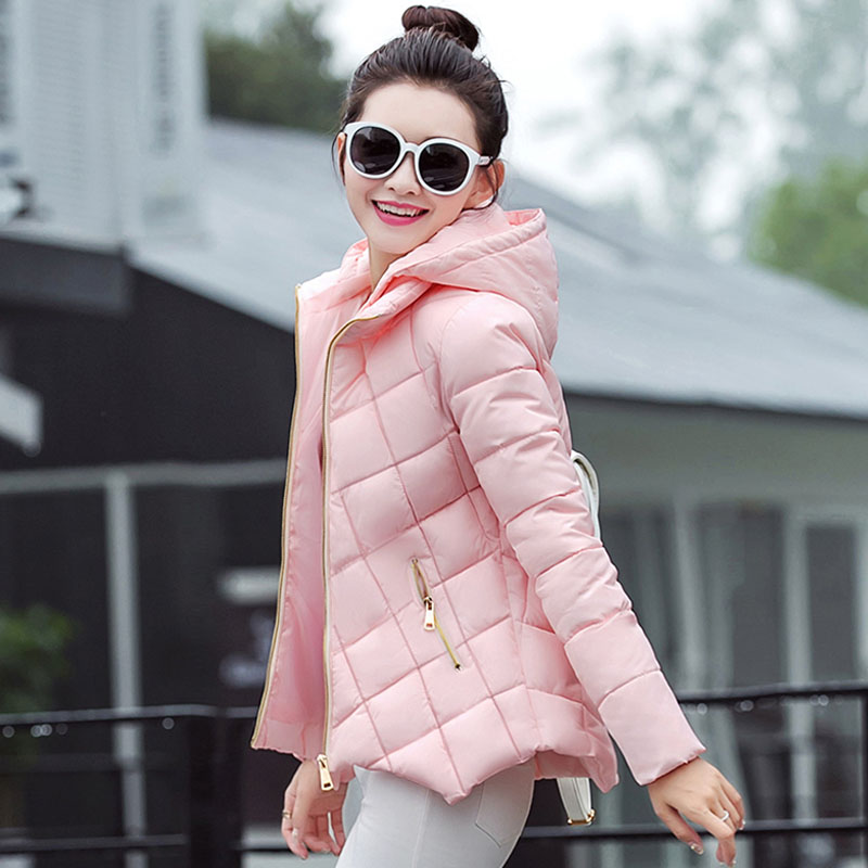 Pregnant women jacket 2018 winter new style cotton ladies short paragraph fashion A word plate Slim cotton coat factory outlets 2014 new winter in europe and america women british style stitching cotton quilted jacket short parkas coat